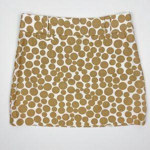 J. Crew Retro Polka Dot Mini Skirt